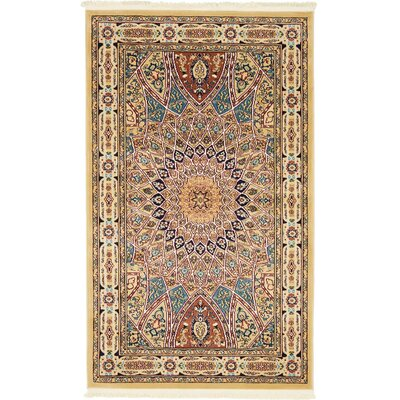 Jackson Beige Area Rug Rug Size: Rectangle 3 x 5