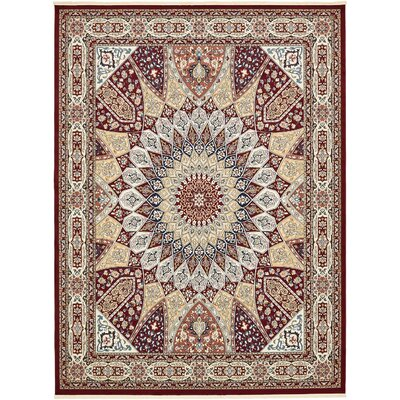 Jackson Burgundy Area Rug Rug Size: Rectangle 10' x 13'