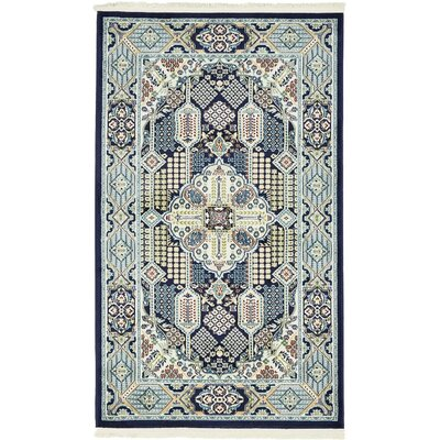 Jackson Navy Blue Area Rug Rug Size: Rectangle 5 x 8