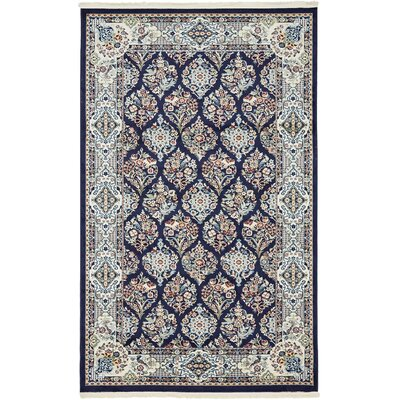 Jackson Navy Blue Area Rug Rug Size: Rectangle 5' x 8'