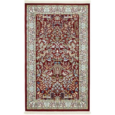 Jackson Burgundy Area Rug Rug Size: Rectangle 8 x 10
