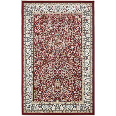Jackson Burgundy Area Rug Rug Size: Rectangle 13 x 198