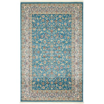 Jackson Blue Area Rug Rug Size: Rectangle 5 x 8