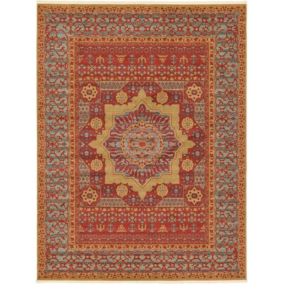 Laurelwood Red Area Rug Rug Size: 9 x 12
