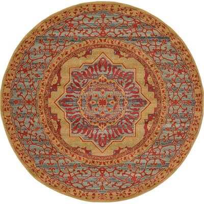 Laurelwood Red Area Rug Rug Size: Round 6' x 6'