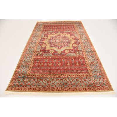 Laurelwood Red Area Rug Rug Size: Rectangle 5 x 8