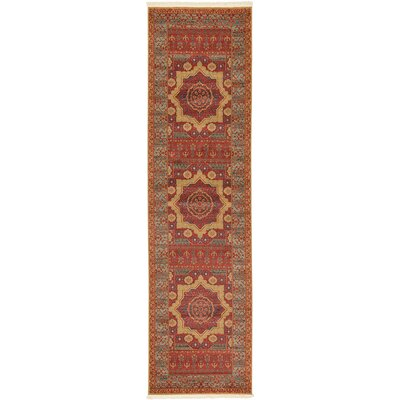 Laurelwood Red Area Rug Rug Size: Runner 2' 7