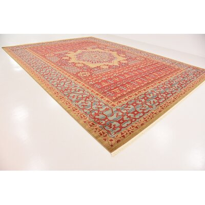 Laurelwood Red Area Rug Rug Size: Rectangle 13 x 18