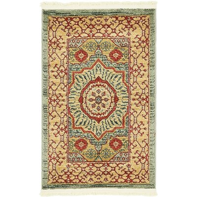 Laurelwood Yellow/Red Area Rug Rug Size: Runner 2 x 6