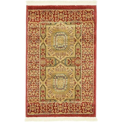 Astoria Grand Laurelwood Red Area Rug