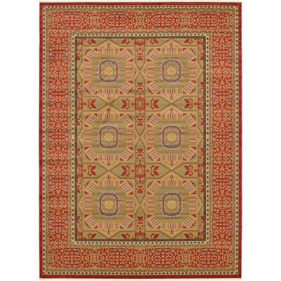 Laurelwood Red Area Rug Rug Size: Rectangle 6 x 9