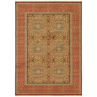 Laurelwood Red Area Rug Rug Size: 7 x 10