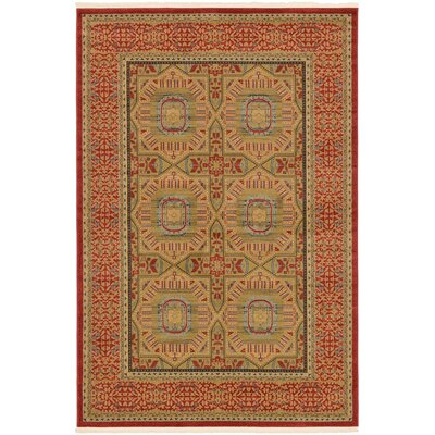 Laurelwood Red Area Rug Rug Size: 6' x 9'