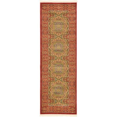 Laurelwood Red Area Rug Rug Size: Runner 2 x 6