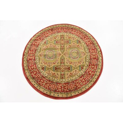 Laurelwood Red Area Rug Rug Size: Round 3'3