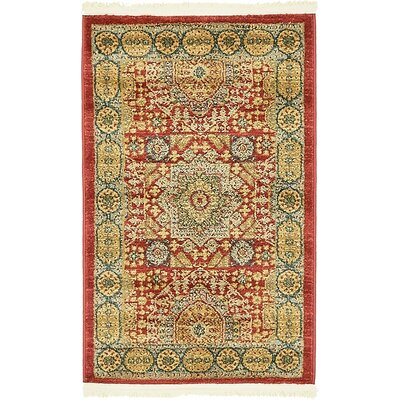 Laurelwood Light Red Area Rug Rug Size: Round 8