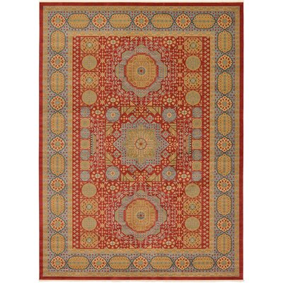 Laurelwood Light Red Area Rug Rug Size: Rectangle 13 x 18