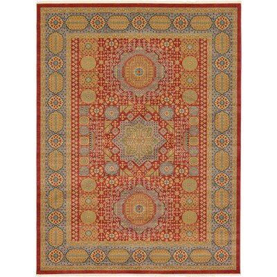 Laurelwood Light Red Area Rug Rug Size: 9 x 12