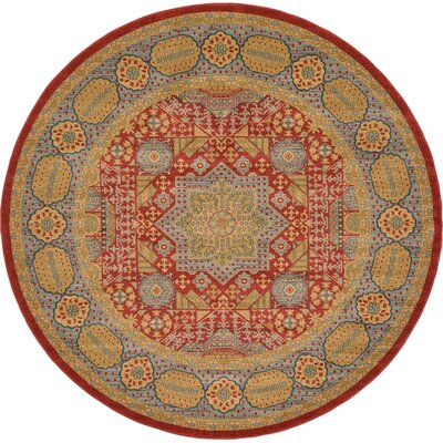 Laurelwood Light Red Area Rug Rug Size: Round 8' x 8'