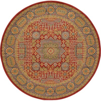 Laurelwood Light Red Area Rug Rug Size: Round 6' x 6'