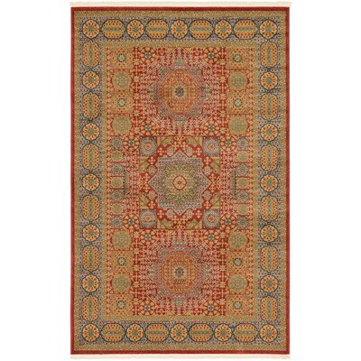 Laurelwood Light Red Area Rug Rug Size: Rectangle 5 x 8