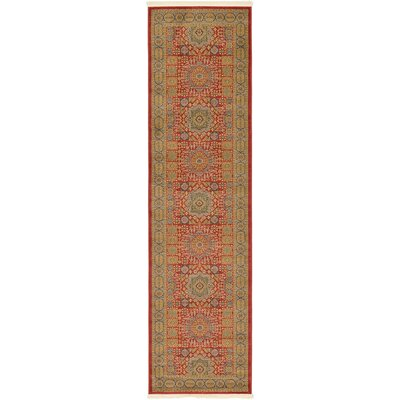 Laurelwood Light Red Area Rug Rug Size: Runner 27 x 10
