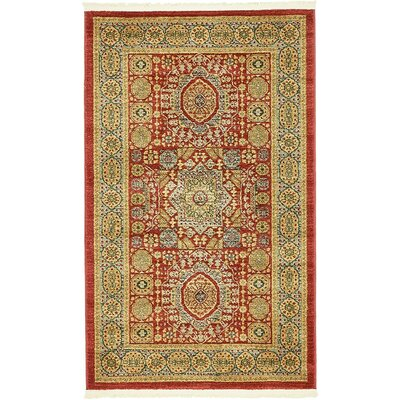 Laurelwood Light Red Area Rug Rug Size: 3'3