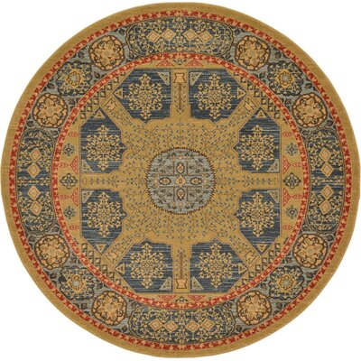 Laurelwood Brown Area Rug Rug Size: Round 6' x 6'