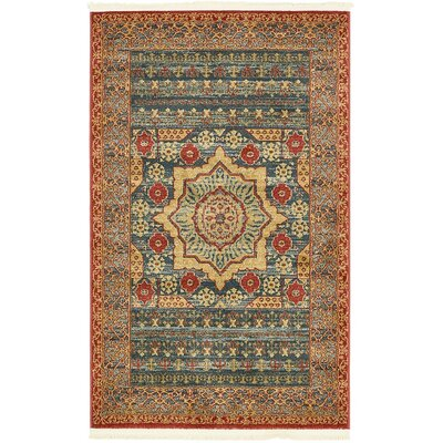 Laurelwood Navy Blue Area Rug Rug Size: 33 x 53