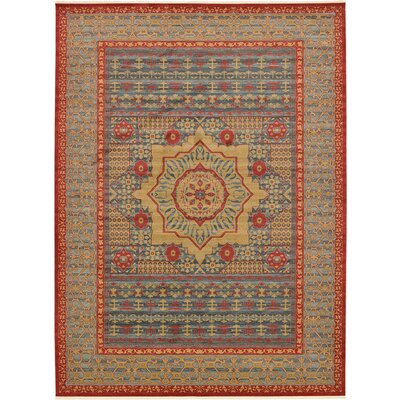 Laurelwood Navy Red Area Rug Rug Size: 13 x 18