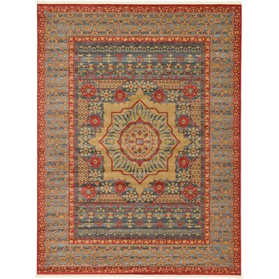 Laurelwood Red Area Rug Rug Size: Rectangle 9 x 12