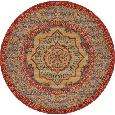 Laurelwood Red Area Rug Rug Size: Round 6 x 6
