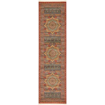 Laurelwood Navy Red Area Rug Rug Size: Runner 2 7 x 10