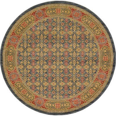 Laurelwood Brown Area Rug Rug Size: Round 6