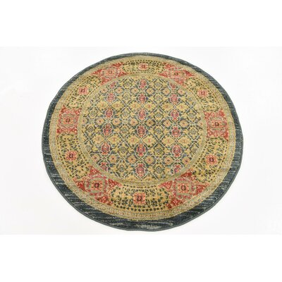 Laurelwood Brown Area Rug Rug Size: Round 3'3