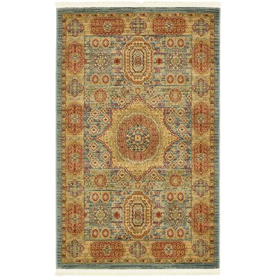 Astoria Grand Laurelwood Light Blue Area Rug