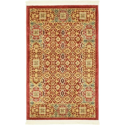 Laurelwood Red Area Rug Rug Size: Round 33