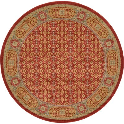 Laurelwood Red Area Rug Rug Size: Round 8' x 8'