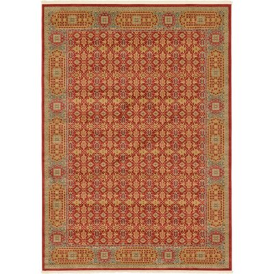 Laurelwood Red Area Rug Rug Size: Rectangle 7 x 10