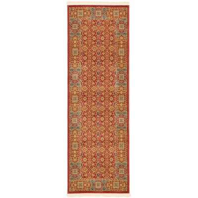 Laurelwood Red Area Rug Rug Size: Runner 2' x 6'