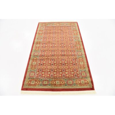 Laurelwood Red Area Rug Rug Size: 3'3