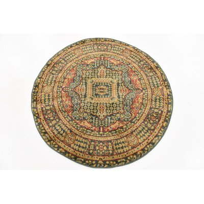 Laurelwood Blue Area Rug Rug Size: Round 33