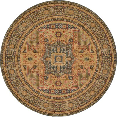 Laurelwood Blue Area Rug Rug Size: Round 8' x 8'