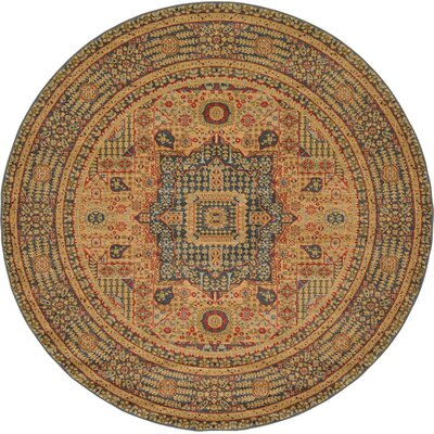 Laurelwood Blue Area Rug Rug Size: Round 6' x 6'