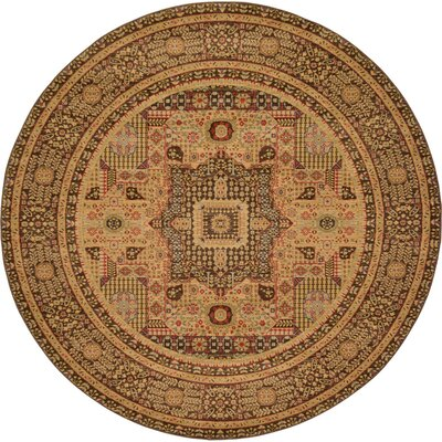 Laurelwood Brown Area Rug Rug Size: Round 8' x 8'