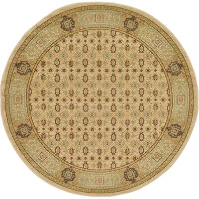 Laurelwood Cream Area Rug Rug Size: Round 6' x 6'