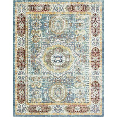 Laurelwood Blue / Red Area Rug Rug Size: 9' x 12'
