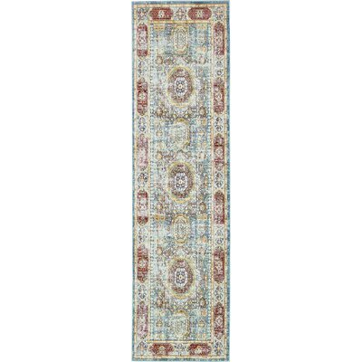 Laurelwood Blue / Red Area Rug Rug Size: Runner 3' x 10'