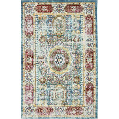 Astoria Grand Laurelwood Blue / Red Area Rug