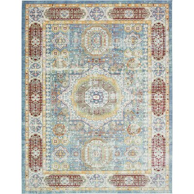 Laurelwood Blue / Red Area Rug Rug Size: 10' x 13'